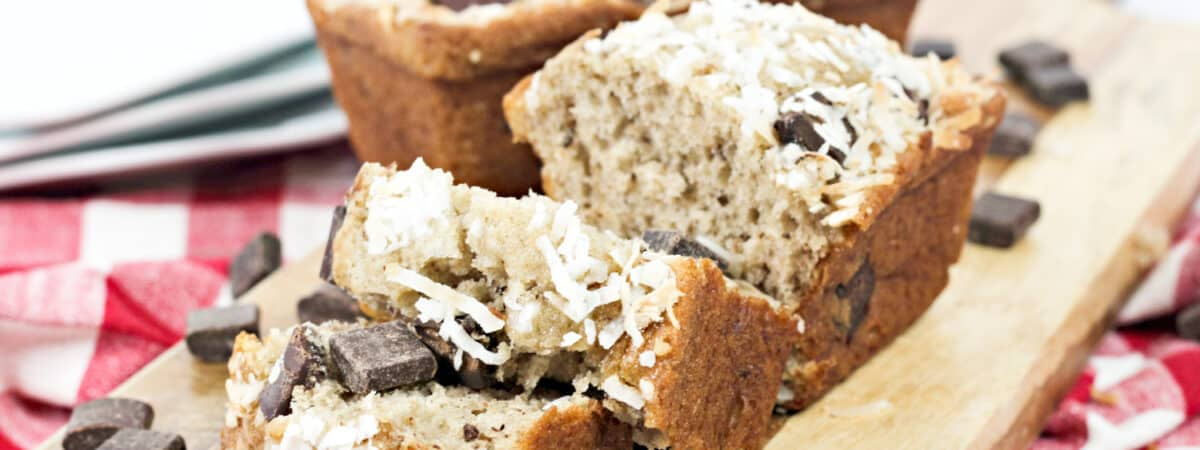 Coconut Banana Chocolate Chip Loaf