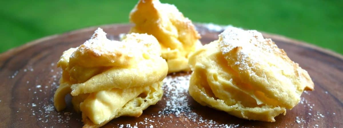 pudding filled cream puffs