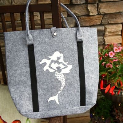 cricut mermaid sea beach bag tote
