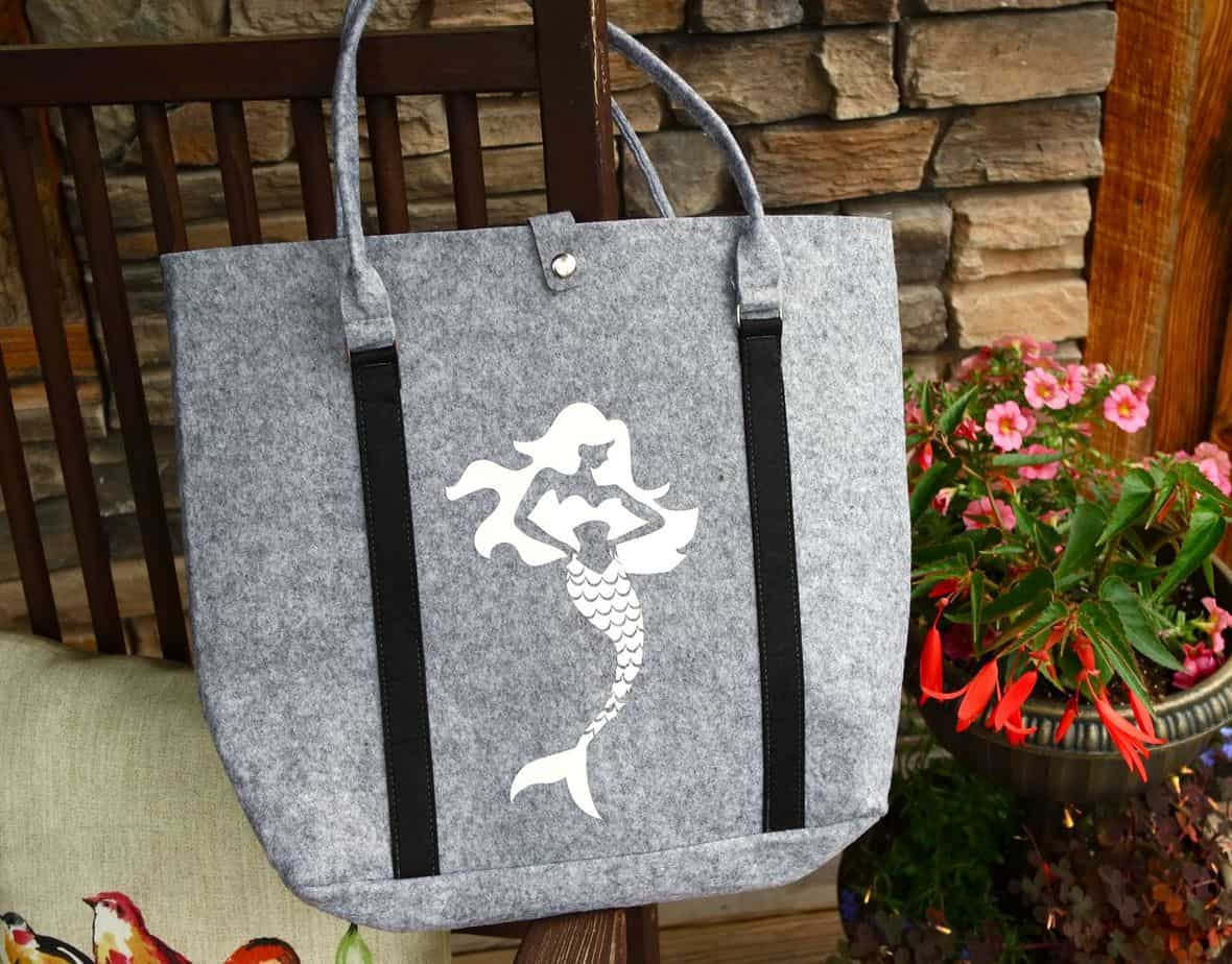 cricut mermaid sea beach bag tote