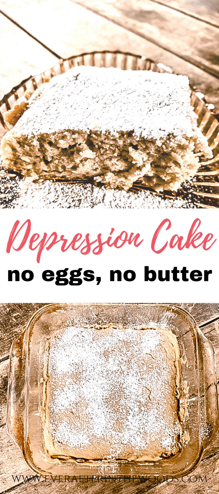 depression cake no eggs no butter