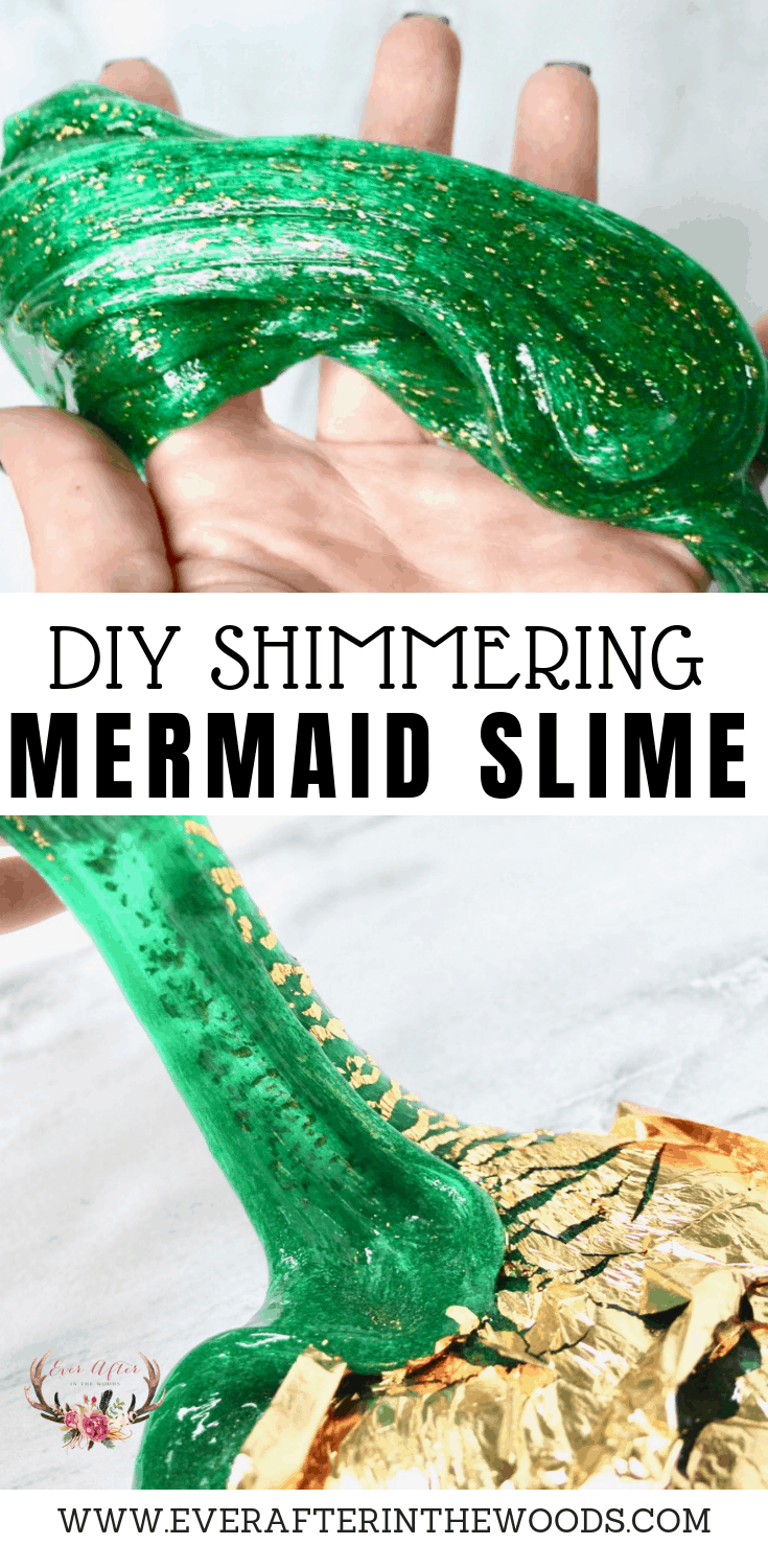 how to make diy shimmering mermaid slime