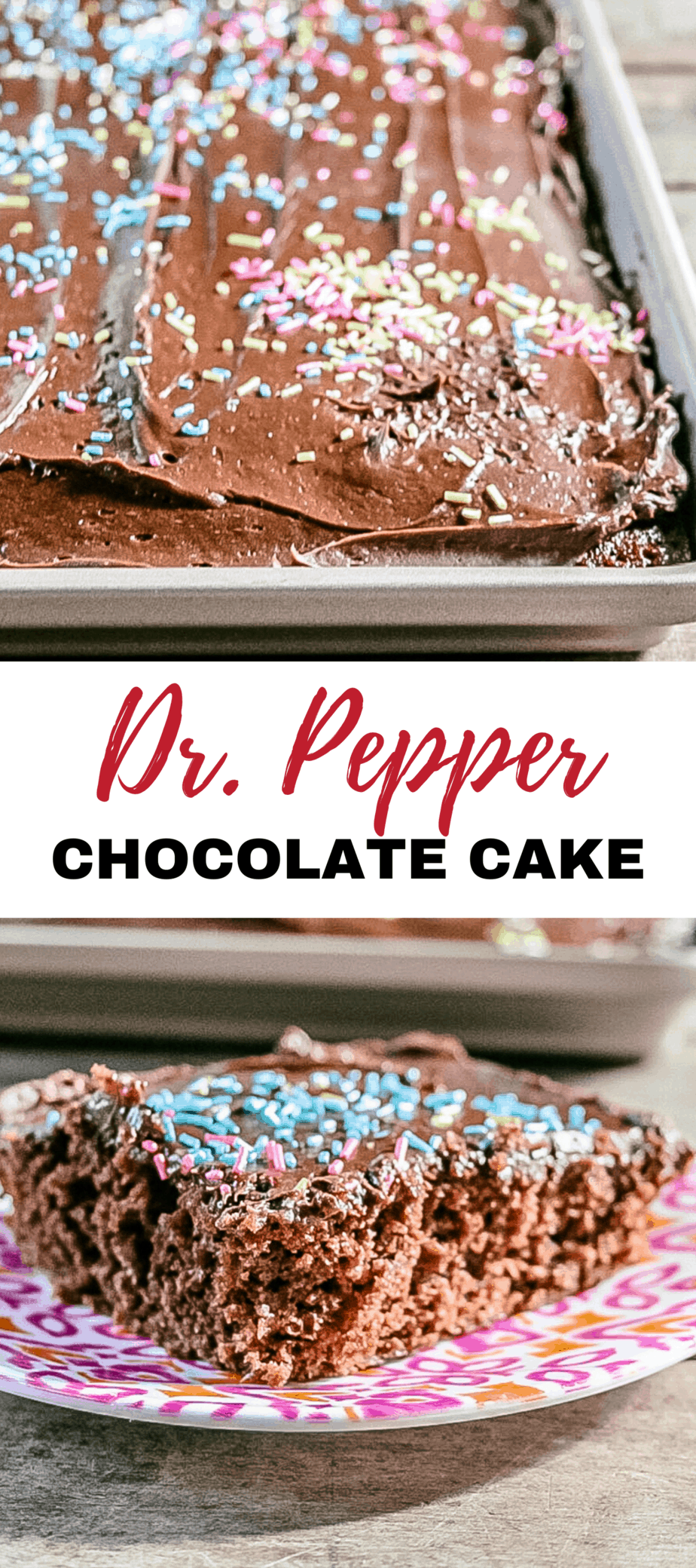 this Dr. Pepper chocolate sheet cake is amazing