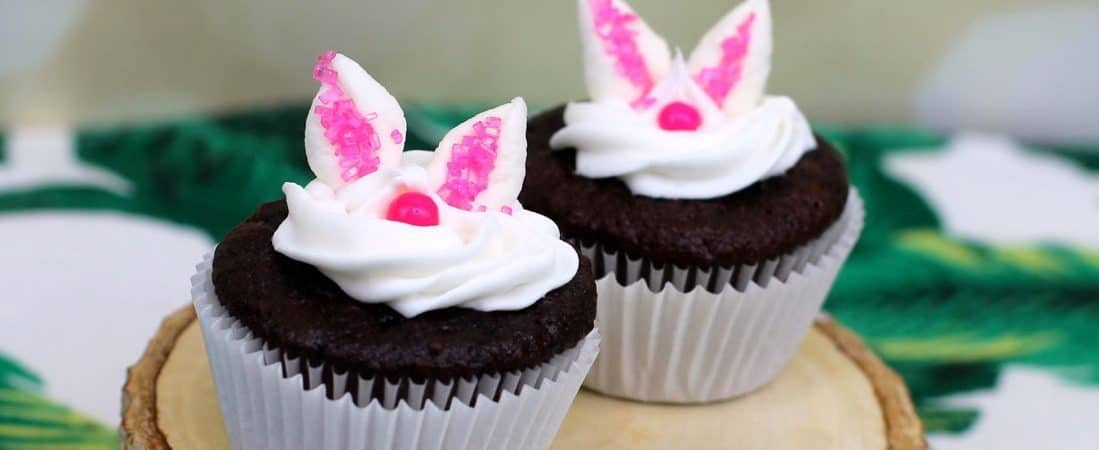 easy to make bunny or rabbit cupcakes for party shower peter rabbit