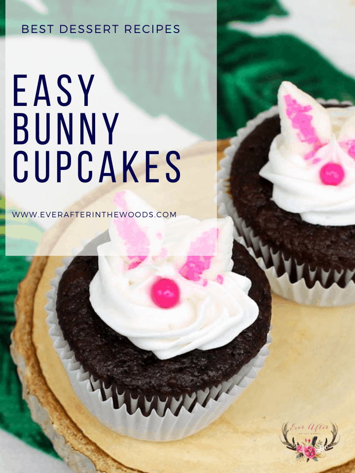 Easy Bunny Cupcake Decoration