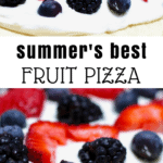 easy to make fruit pizza with cream cheese frosting
