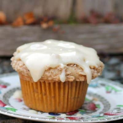 Eggnog Crumb Cake Muffins
