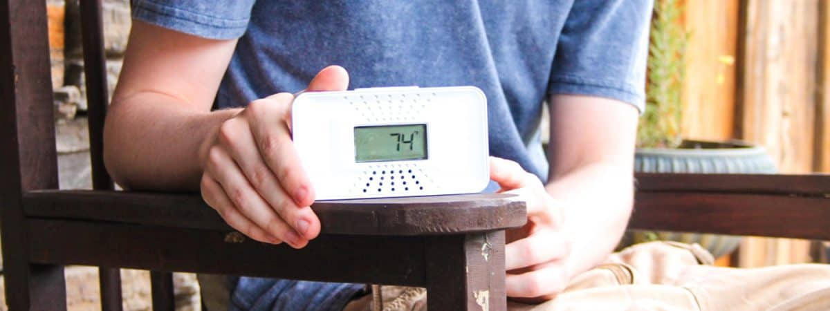 First Alert Tabletop Carbon Monoxide Alarm.