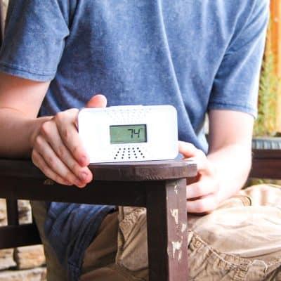 First Alert Tabletop Carbon Monoxide Alarm.
