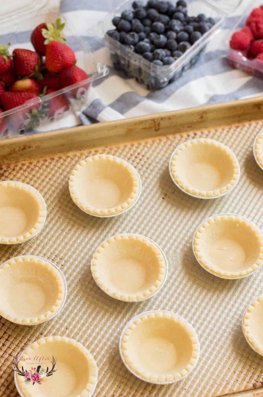 Mini Custard Fruit Tarts