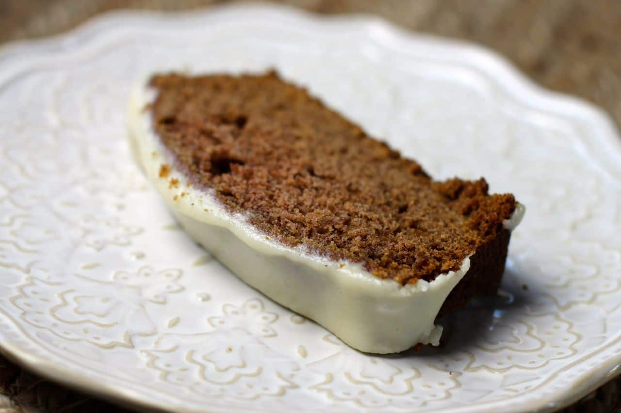 moist and delicious gingerbread with cream cheese frosting