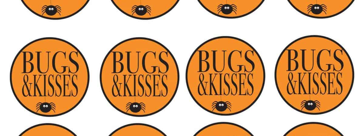 graphic about Bugs and Kisses Printable identify Inexpensive and Uncomplicated Halloween Take care of Baggage with Cost-free Printable