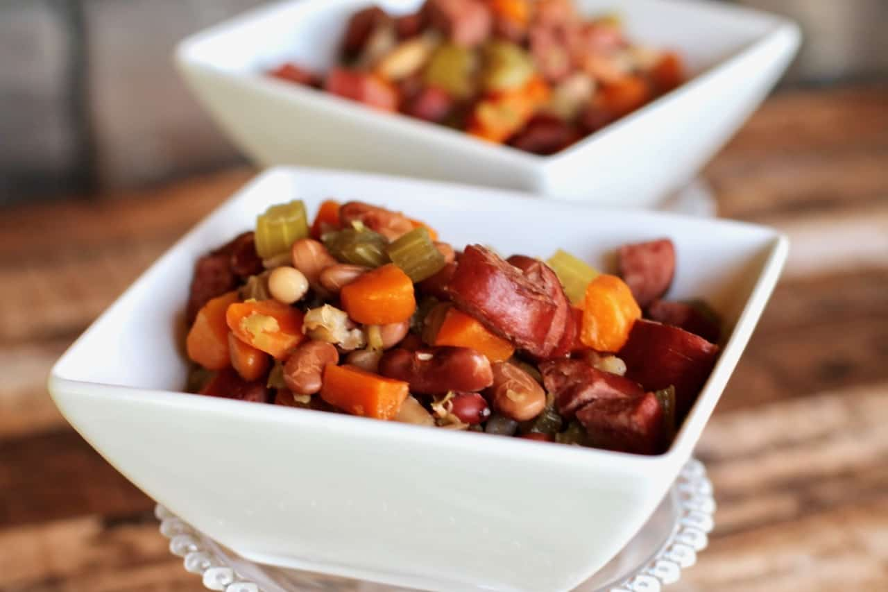 kielbasa white bean navy bean slow cooker soup
