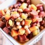 kielbasa white bean navy bean slow cooker soup