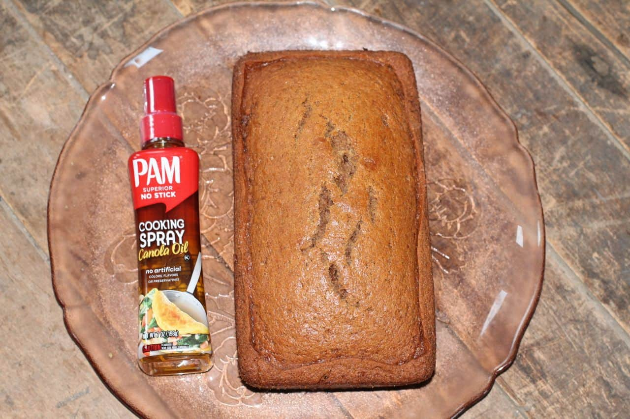 pam cooking spray ginger bread loaf