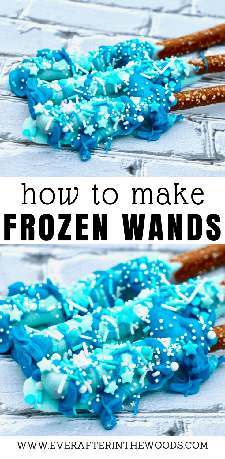 how to make frozen frozen 2 princess wands for a birthday party