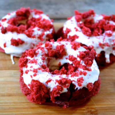 red velvet donuts easy to make recipe