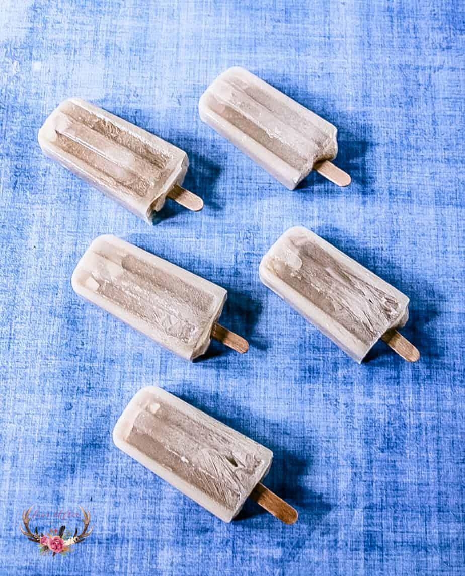 frozen coffee coconut ice pops.