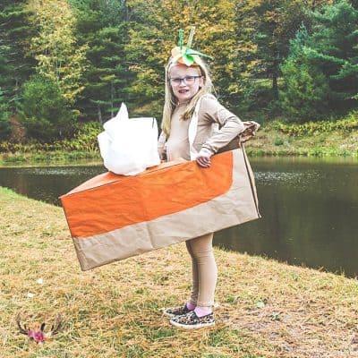 easy pumpkin pie costume