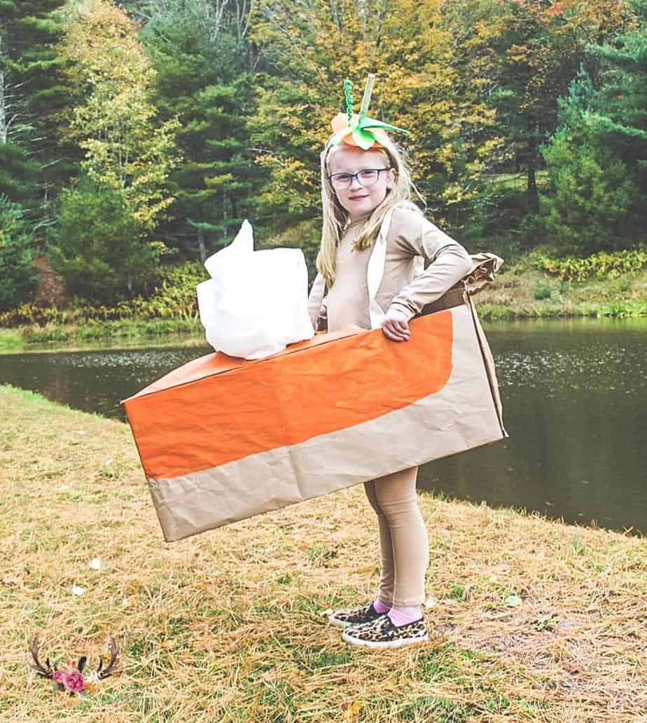 easy pumpkin pie costume