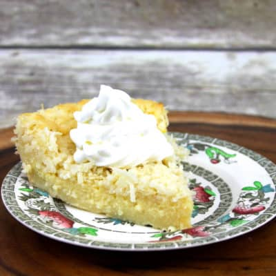 pie make crust while baking | impossible pie | coconut cake