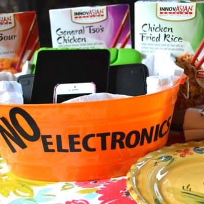 Make Dinner Electronics-Free