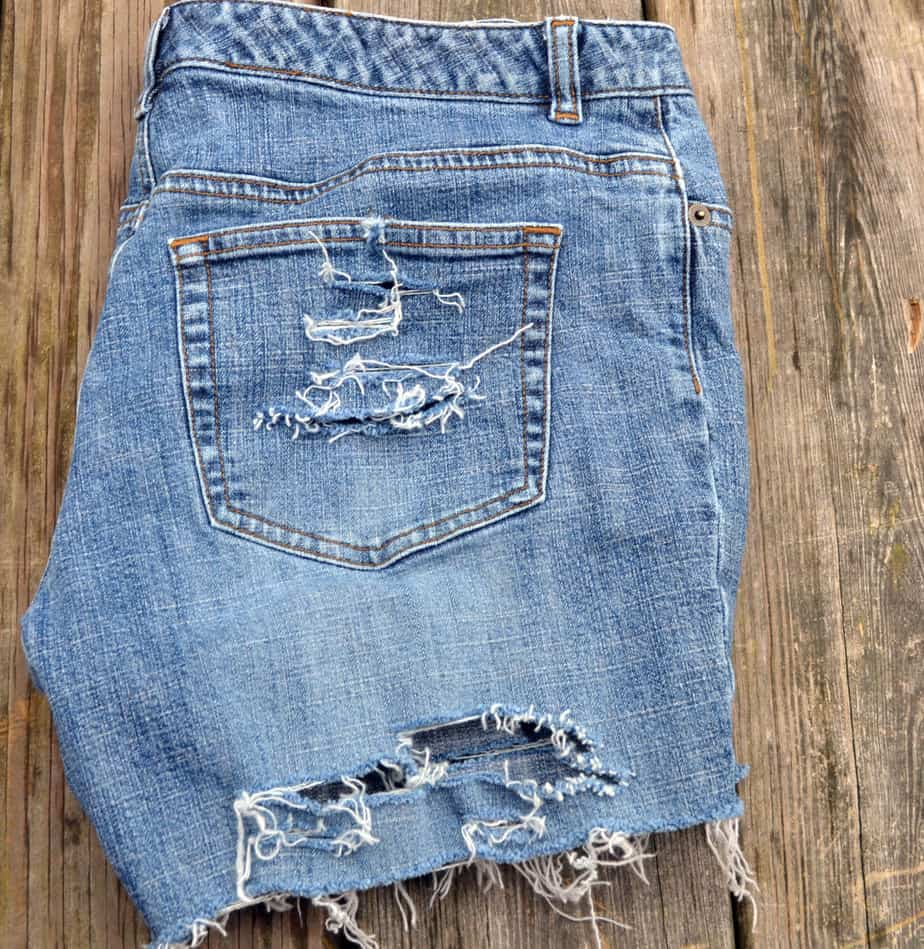 Fray and Distress Your Own Jean Shorts - Simple DIY - Ever