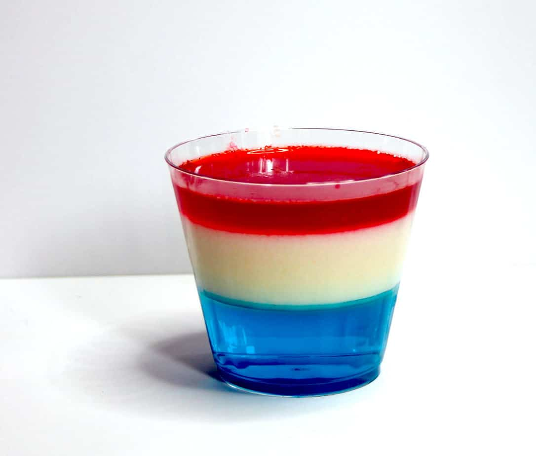 layered jell-o dessert | red white blue layered jell-o
