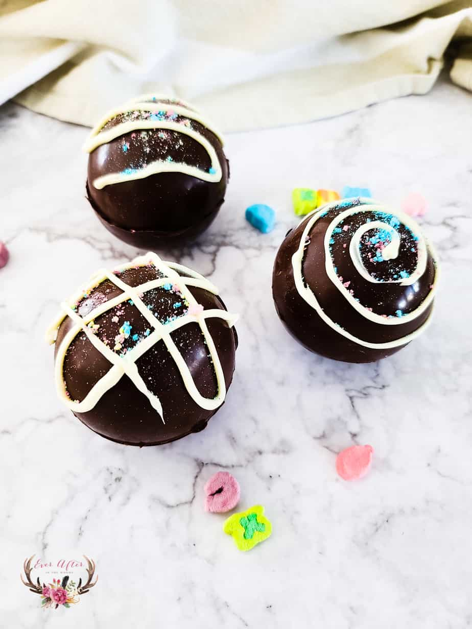 lucky charms hot cocoa bombs