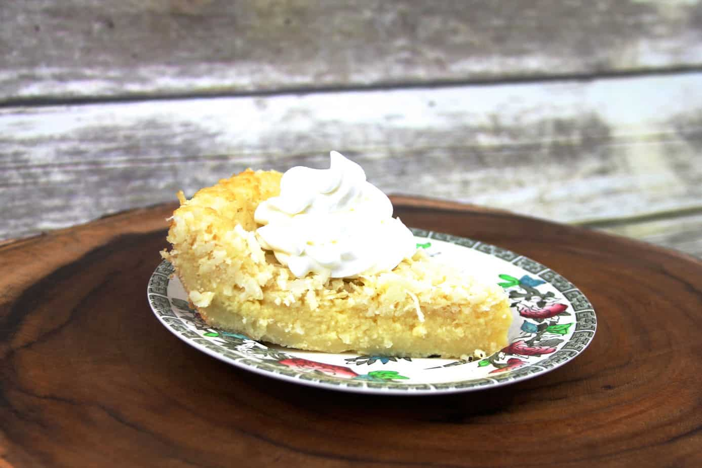 impossible pie |easy coconut custard pie |makes crust while baking