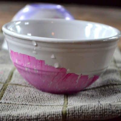 Easy DIY Nail Polish Marbled Bowl