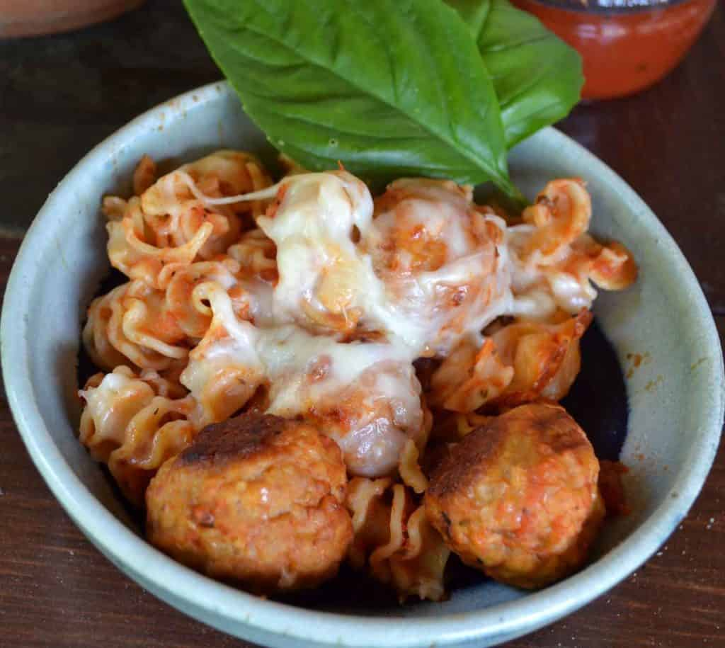 meatball-parmesean-pasta-bake