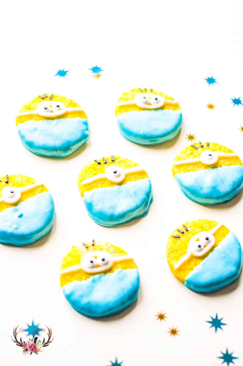 Minion sugar cookies are the perfect dessert for a cute Despicable Me birthday party