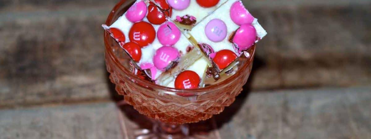 m&ms strawberry fudge valentine's day gift