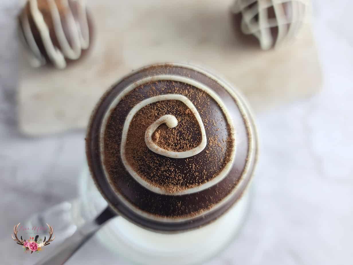 mocha hot cocoa bombs