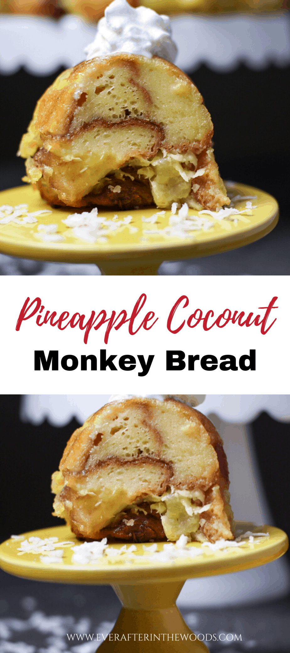 pina colada monkey bread with sweet rolls