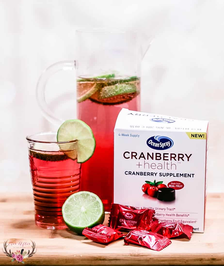cranberry lime seltzer urinary tract health