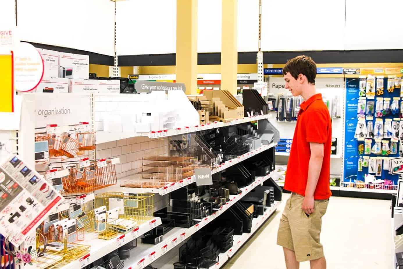 back to school shopping college freshman dorm