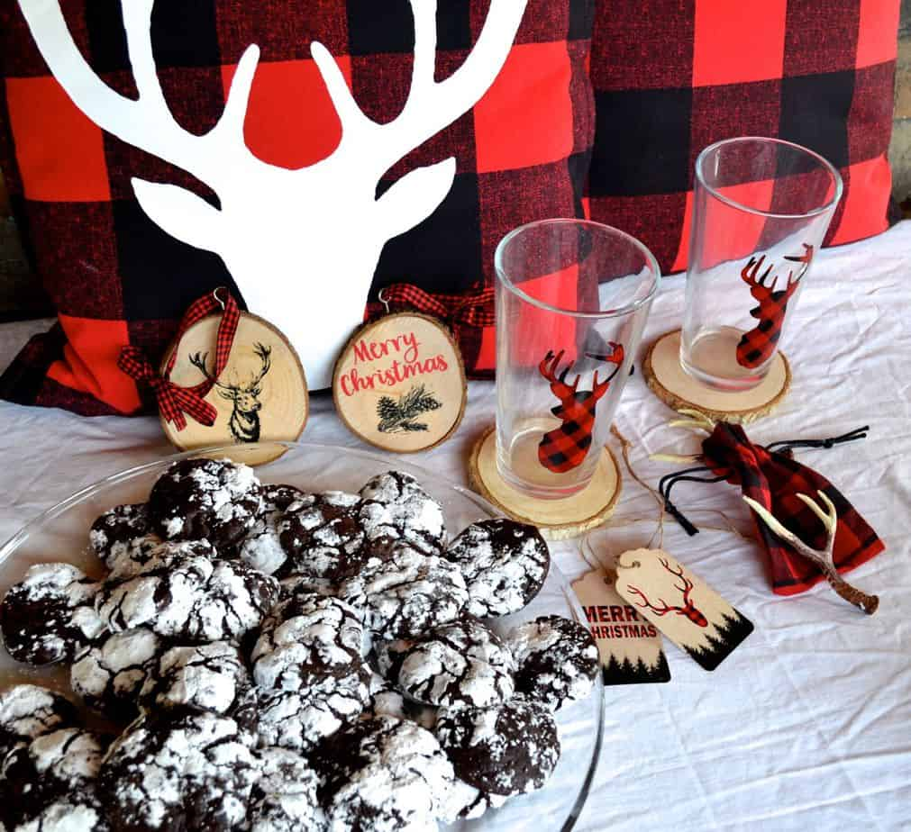 buffalo plaid cookie swap