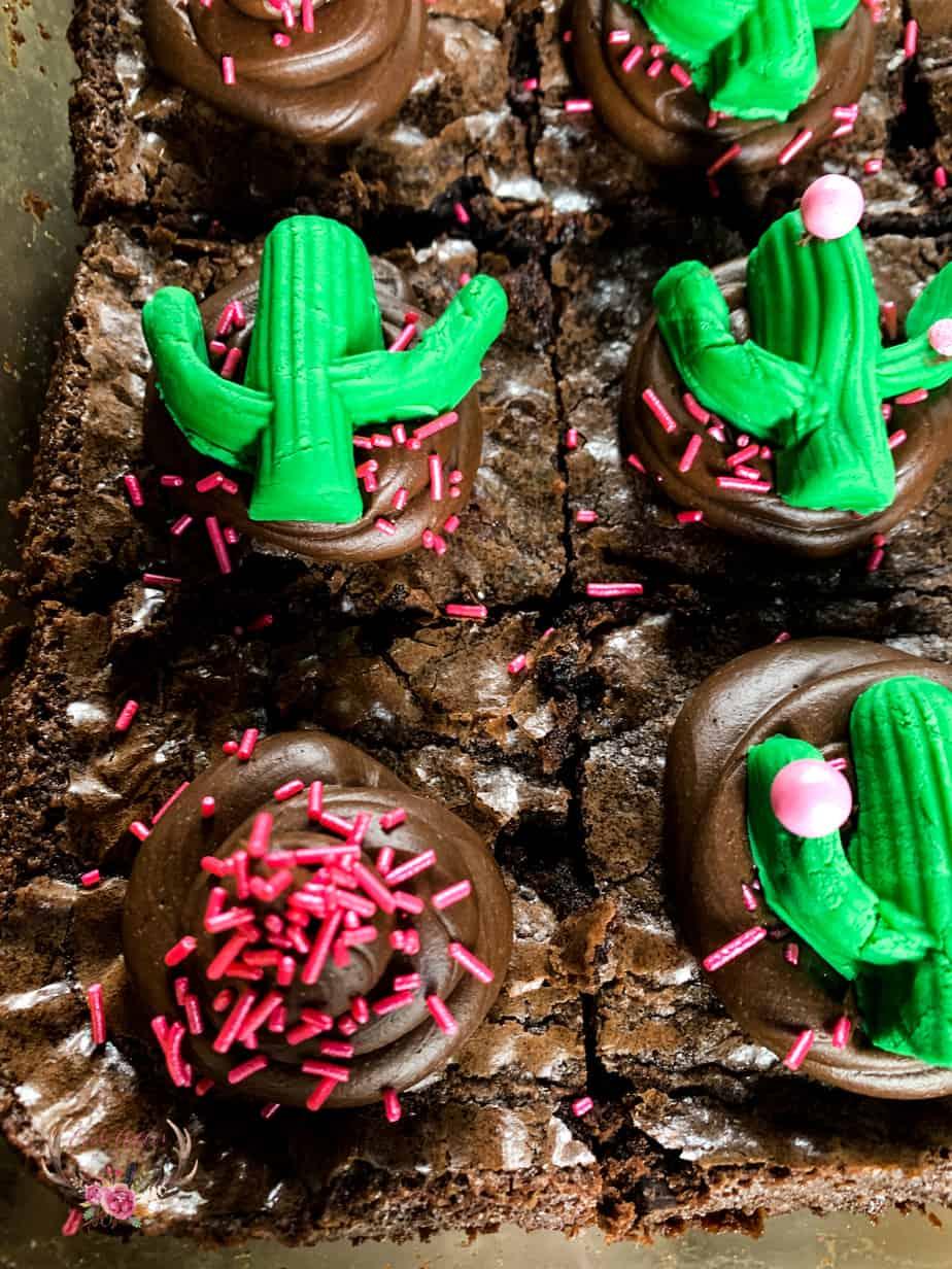 cactus cupcake topper edible cacti