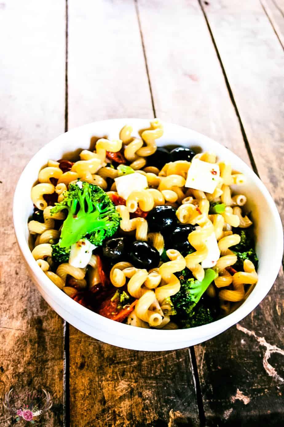 easy italian pasta salad no mayonnaise