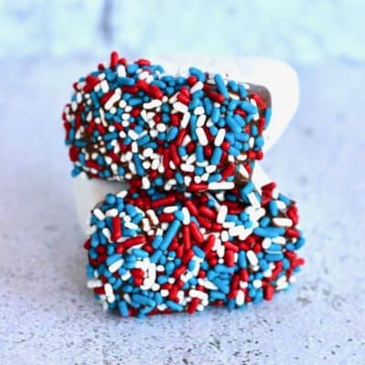 Easy Red, White and Blue Marshmallows