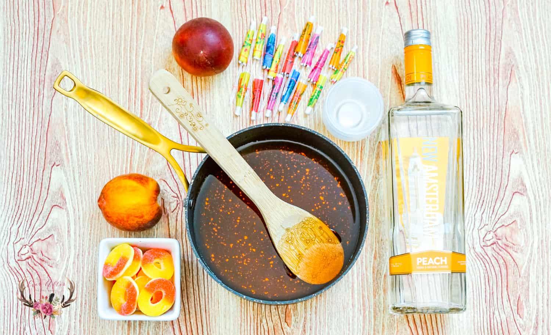 peach jello shots | summer cocktails