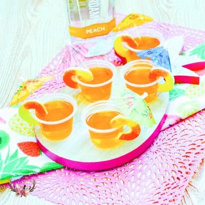 peach jello shots | summer cocktails