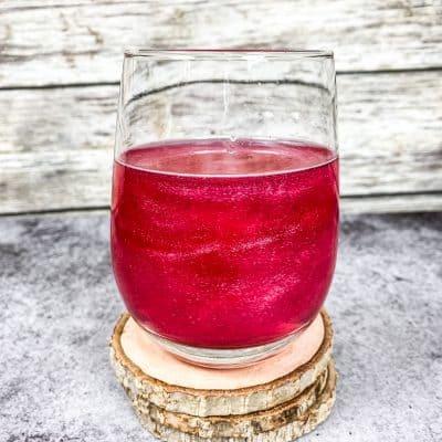 pink glitter drink