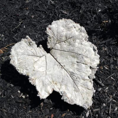 DIY Easy Concrete Leaf Sculpture