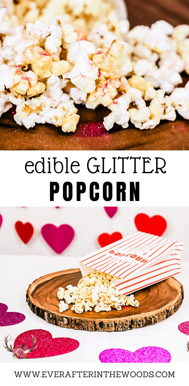 valentine's day glitter popcorn