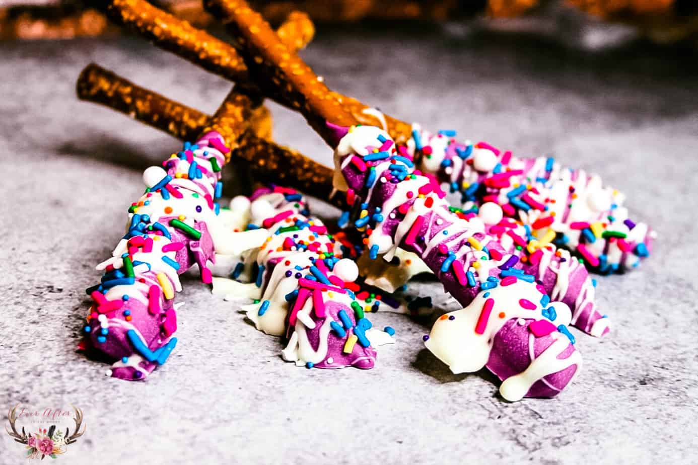 princess birthday party pretzels