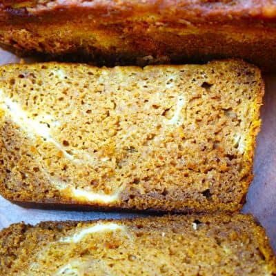 Pumpkin Swirl Cheesecake Bread