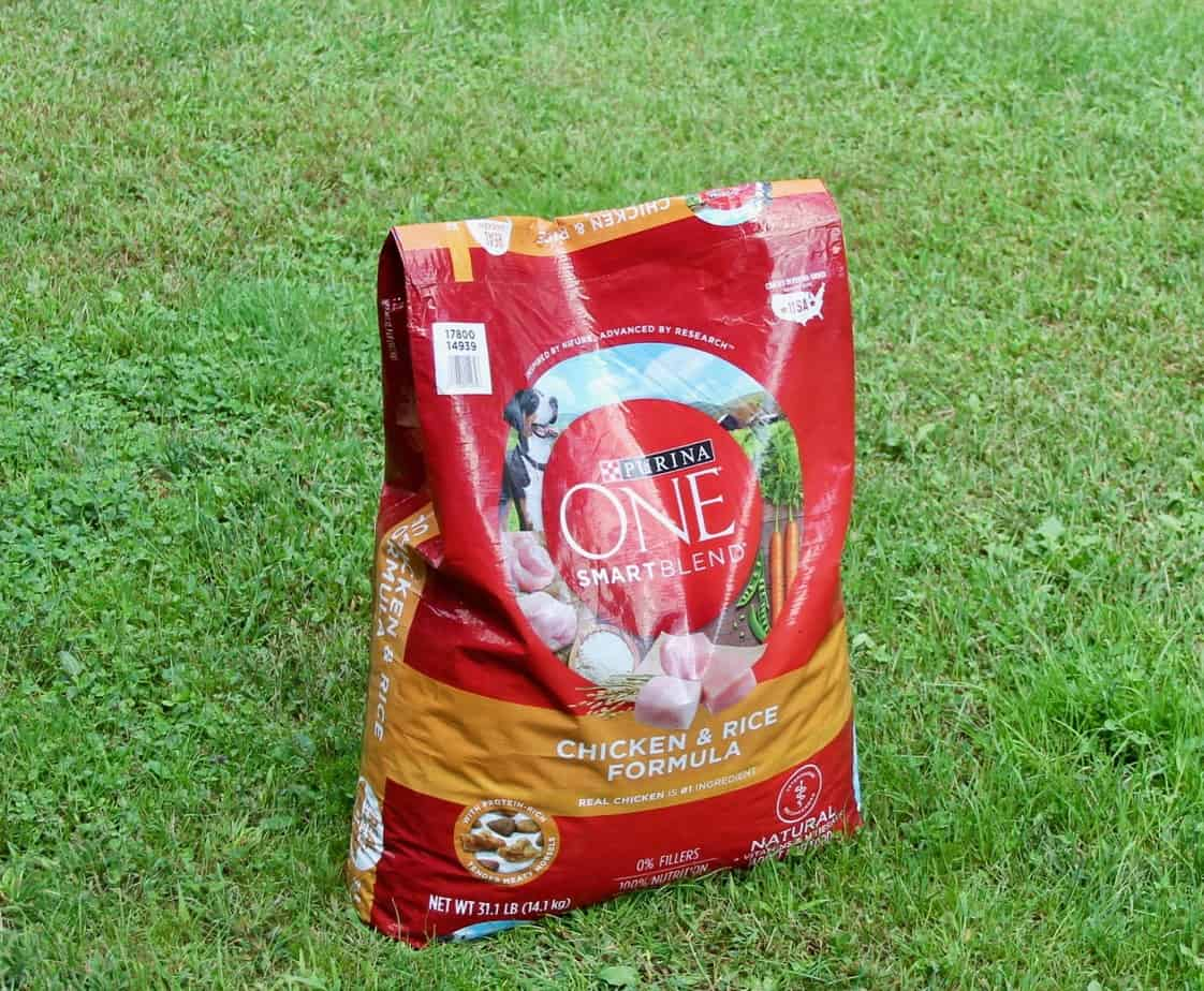 large bag of dry dog food